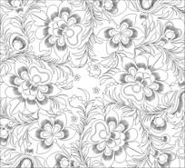 古典花纹雕刻图案