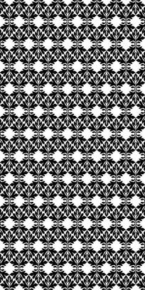 黑花纹雕刻图案