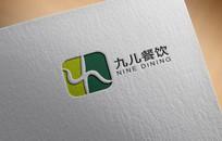 九儿餐饮美食logo标志