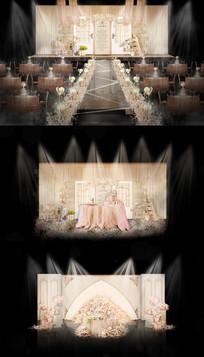 清新学院派门窗婚礼效果图