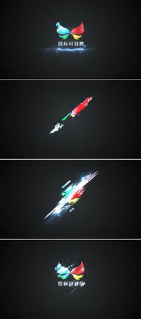 闪电划过logo标志展示模板  aep