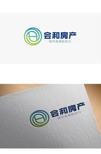 圆形渐变房产logo