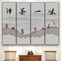 中式禅茶一味挂画