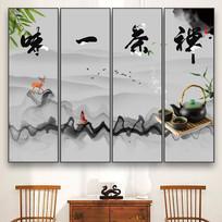 中式水墨禅意禅茶挂画