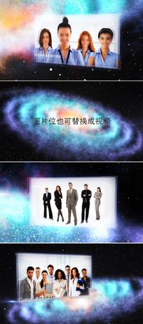 ae宇宙银河图文展示模板