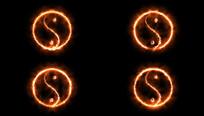太极八卦火焰视频带透明通道