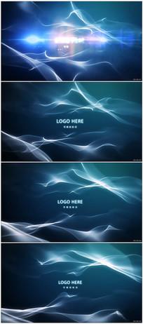 唯美光线粒子开场视频模板