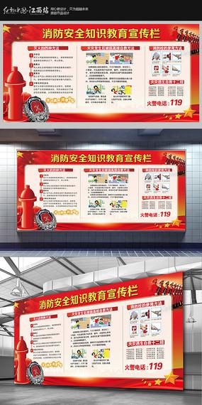 消防安全知识教育宣传栏展板