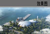 滨水建筑景观效果图