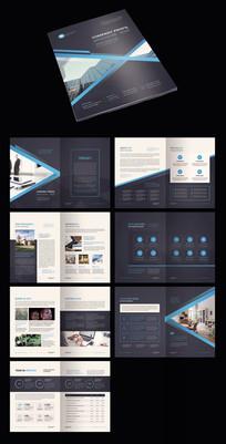 创意企业宣传册AI模板