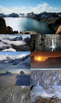 冬季唯美自然风光视频素材