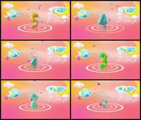 卡通糖果动感5秒倒计时视频