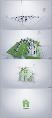 科技感建筑公司企业标志模版