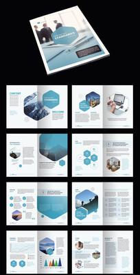 蓝色创意AI宣传册