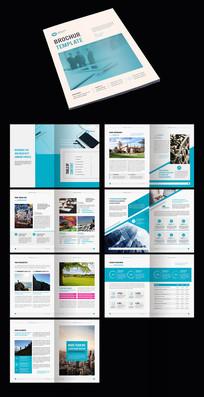 蓝色创意企业宣传册模板