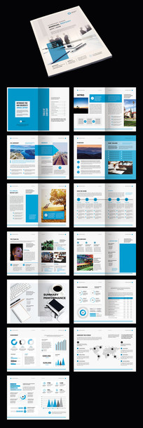 蓝色简约企业AI宣传册