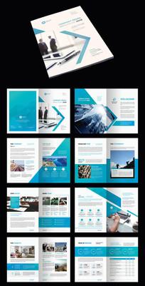 蓝色简约时尚企业宣传册
