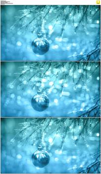 蓝色圣诞节背景视频素材