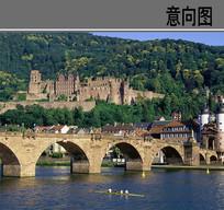 欧式石质平桥