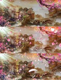 桃花飘落舞台背景视频 mov