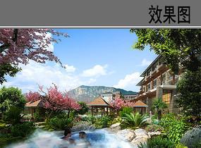 温泉景观效果图