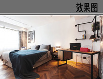 现代卧室设计效果图 JPG