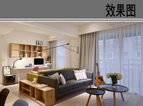 小户型客厅设计效果 JPG