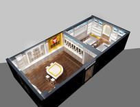 展厅鸟瞰场景模型