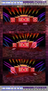 中式舞台舞美设计效果图