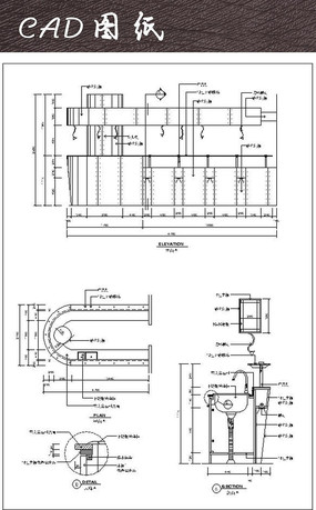 U型吧台吧台CAD