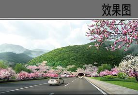 高速景观效果图