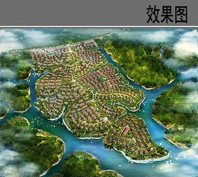 海南南丽湖别墅群鸟瞰图