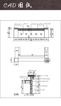 接待台CAD三视图