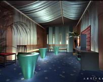 酒店现代KTV包厢效果图