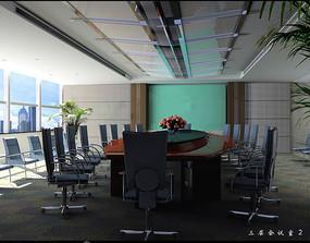 酒店现代会议室效果图