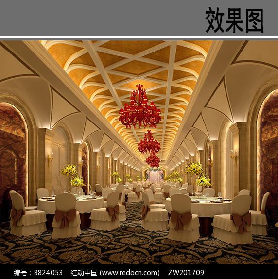 酒店宴会厅室内效果图图片