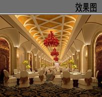 酒店宴会厅室内效果图