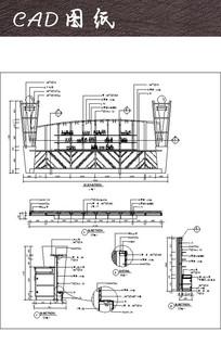 酒店造型吧台CAD图纸