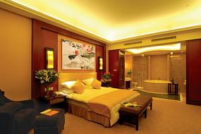 酒店中式复式套房效果图