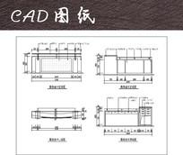 两款办公桌前台CAD平立面