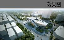 商城建筑鸟瞰图 PSD