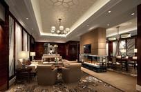 奢华酒店豪华套房客厅
