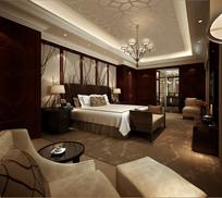 奢华酒店豪华套房卧室