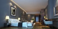 现代标准套房方案效果图 JPG