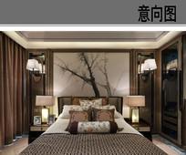 中式典雅卧室 JPG