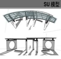 中式拱门组合廊架