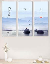 中式客厅书房装饰画无框画设计