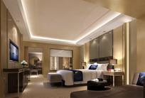 中式枕头套房卧室效果图