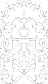 对称玉砂花纹图雕刻图案