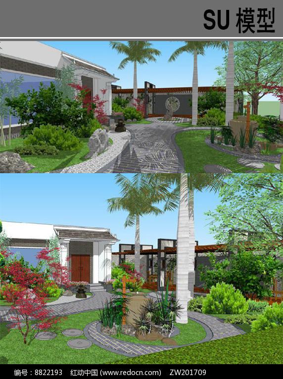 古典中式庭院景观图片
